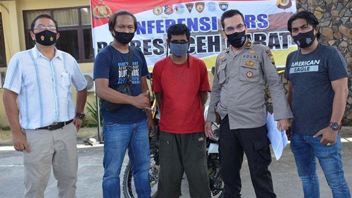 Pencuri Sepeda Motor di Aceh Barat Ditangkap di Kebun Durian di Aceh Selatan