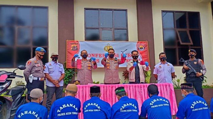 Hati-hati Parkir Kendaraan, Polres Aceh Tengah Tangkap Sembilan Tersangka Pelaku Curanmor