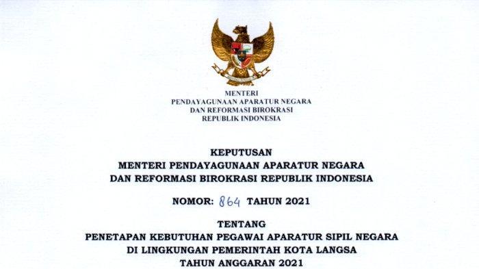 Rincian Lengkap Formasi CPNS 2021 Pemkot Langsa untuk Lulusan Sarjana Sosiologi dan S-1 Akuntansi