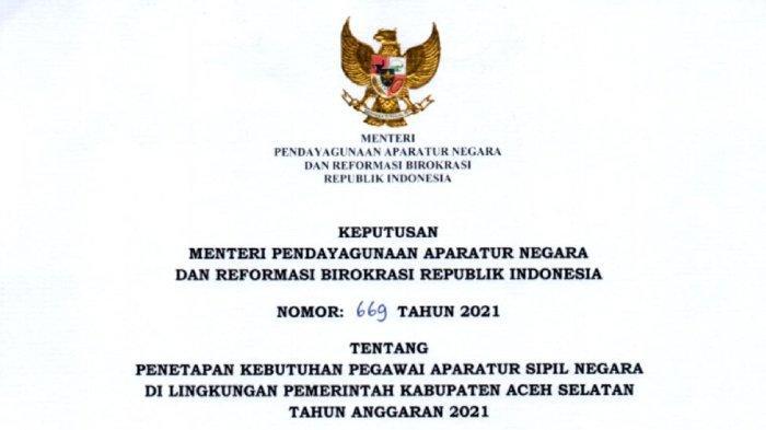 Rincian Lengkap 319 Formasi CPNS & PPPK Aceh Selatan, Ada 24 Formasi untuk Lulusan D-III Keperawatan