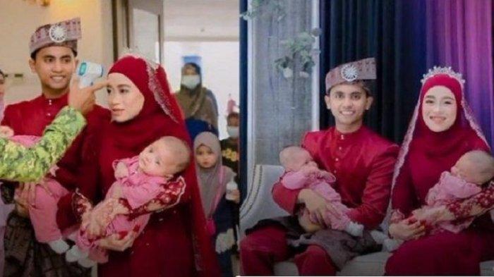 VIRAL Pengantin Baru Naik Pelaminan Bawa Bayi Kembar, Bikin Bingung Tamu Undangan