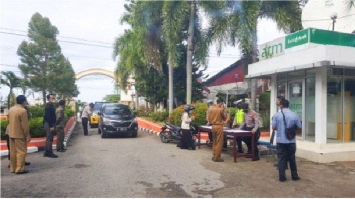 Kapolres dan Kajari Pantau Pelaksanaan Sosialisasi PPKM Level 3 Covid-19 di Aceh Selatan