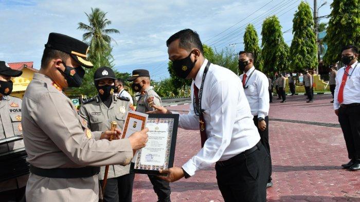 Ungkap Pelaku Pembunuhan Gajah, 17 Personel Polres Aceh Timur Peroleh Penghargaan