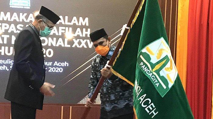 Pesan Gubernur Saat Melepas Kafilah MTQ Aceh ke Sumbar: Jaga Citra Daerah, Ukirlah Prestasi Terbaik