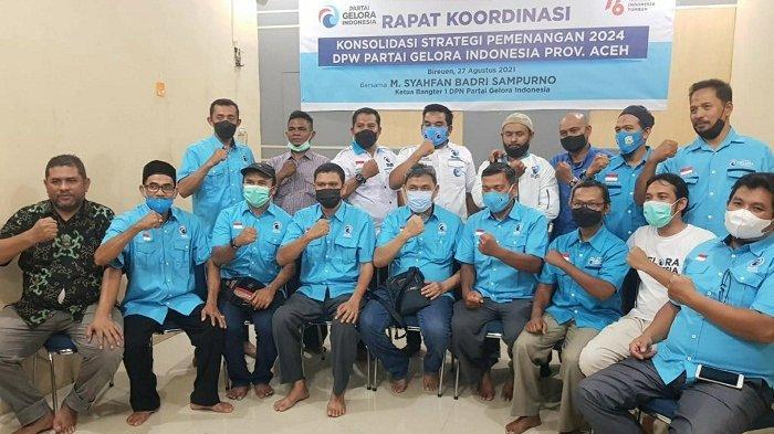 Partai Gelora Aceh Laksanakan Konsolidasi dengan Pengurus Daerah