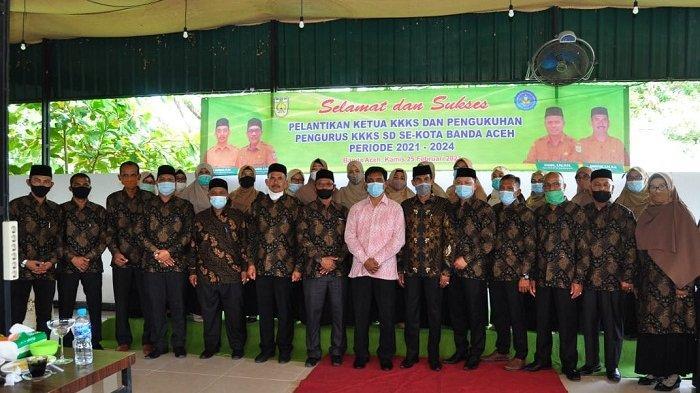 Ketua dan Pengurus K3S SD Kota Banda Aceh Dilantik, Kadisdik Dr Saminan Tekankan Hal ini