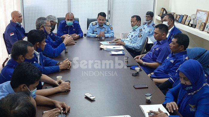 Dipimpin Dalimi dan Iqbal Farabi, Pengurus Partai Demokrat Aceh Sambangi Kanwil Kemenkumham