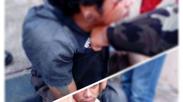 Diduga Ingin Menjambret, Pria Bertato Diamuk Massa di Kawasan Blangpadang Banda Aceh