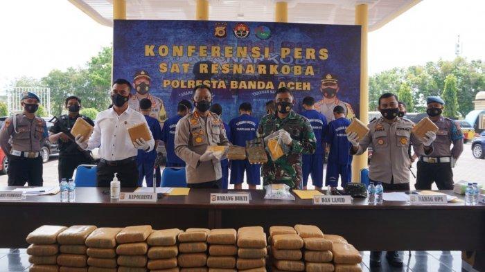 Personel Satnarkoba Polresta Ringkus 19 Orang Terlibat Narkoba, Selama Operasi Antik Seulawah 2021