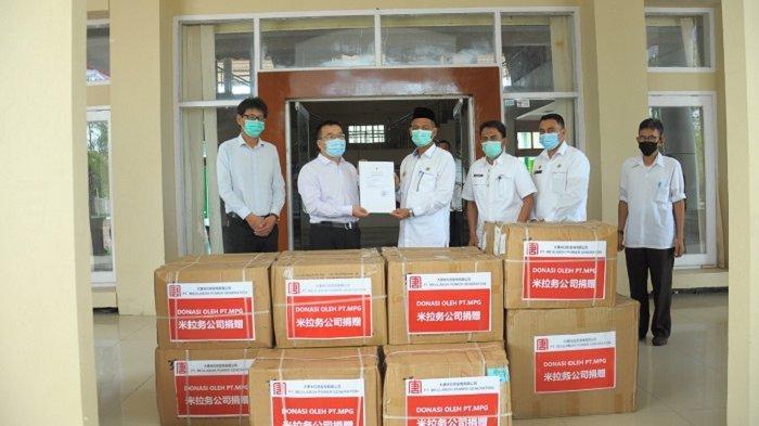Pemkab Nagan Raya Dapat Bantuan Masker 28.800 Lembar, Dukung Penanganan Covid-19