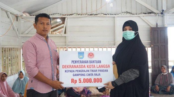 Dekranasda Langsa Persiapkan 3 Kelompok Perajin Tikar Pandan Anyaman ke Lomba Tingkat Provinsi Aceh