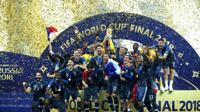 Kalahkan Kroasia 2-4, Perancis Raih Gelar Juara Piala Dunia Kedua