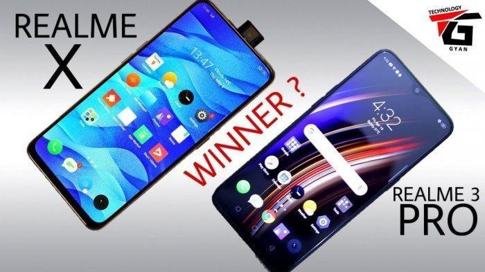 Harganya Beda Tipis, Simak Perbedaan Spesifikasi Realme X dan Realme 3 Pro
