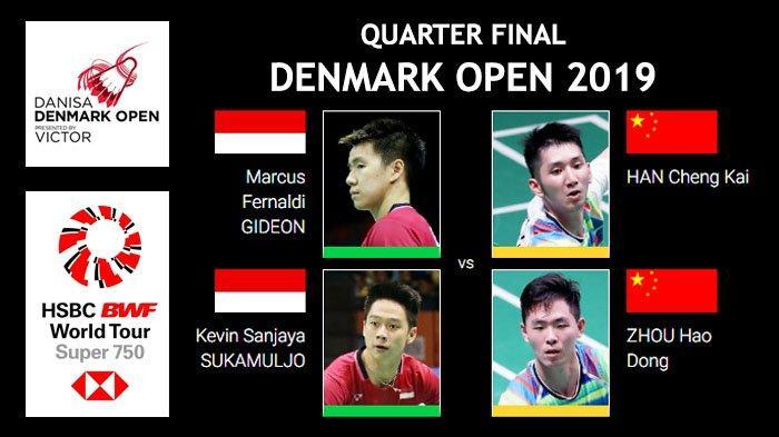 Link Live Streaming Perempat Final Denmark Open 2019, Marcus/Kevin Siap Kalahkan Wakil Tiongkok
