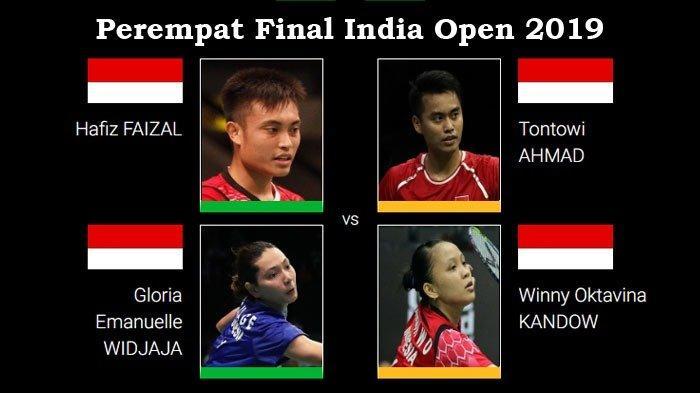 Perempat Final India Open 2019 - Perang Saudara Hafiz/Gloria Vs Owi/Winny untuk Satu Tiket Semifinal