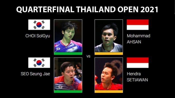 QF Thailand Open 2021 - Ahsan/Hendra Hadapi Lawan yang Kalahkan Mereka di Final Hong Kong Open 2019