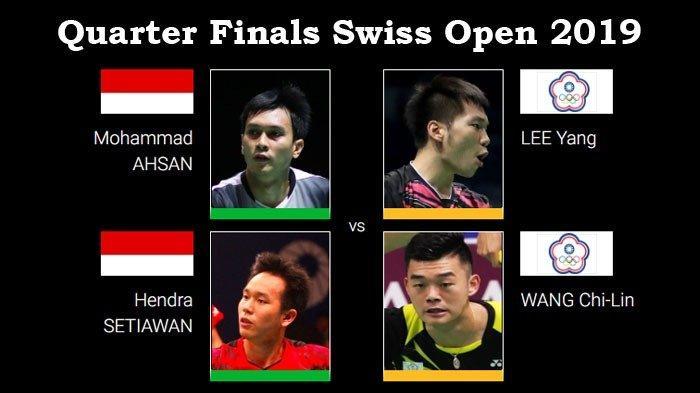 Hasil 16 Besar dan Jadwal Perempat Final Swiss Open 2019 - Indonesia Pastikan Satu Tiket Semifinal