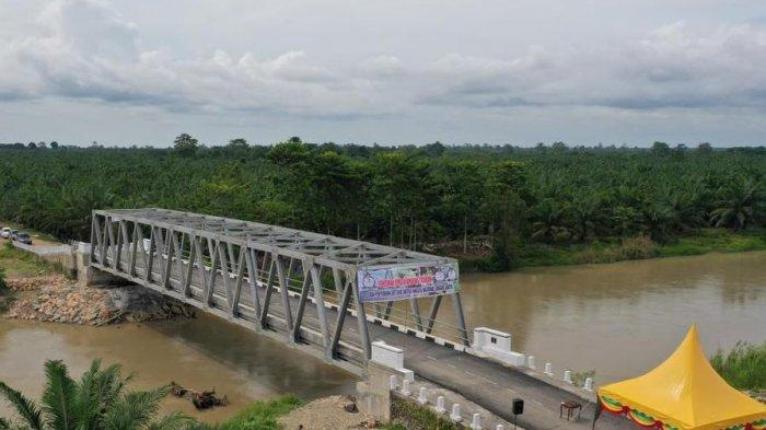 Jembatan Krueng Teukuh Abdya Diresmikan, Ribuan Petani Tinggalkan Rakit