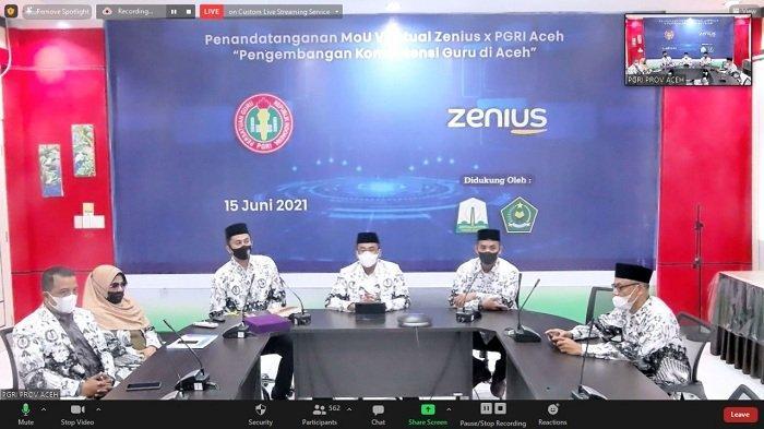 PGRI Aceh Gelar Lokakarya Virtual dan Kerjasama dengan MoU, Diikuti Guru se-Aceh