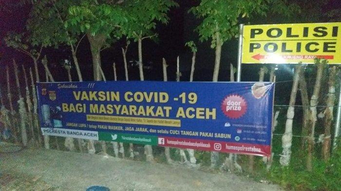 Polresta Banda Aceh Sediakan Doorprize Sepeda Motor Bagi Warga yang Mau Divaksin Covid -19