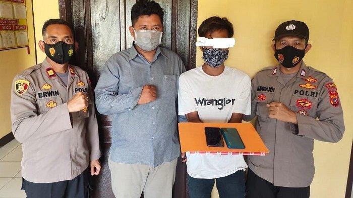 Kabur ke Aceh Timur Setelah Curi HP, Pria asal Aceh Utara Diringkus di Sebuah Warung