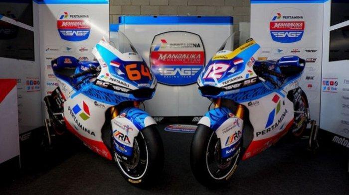 Pertamina Siapkan Motor Balapan Livery Moto2  Untuk Mandalika SAG Team