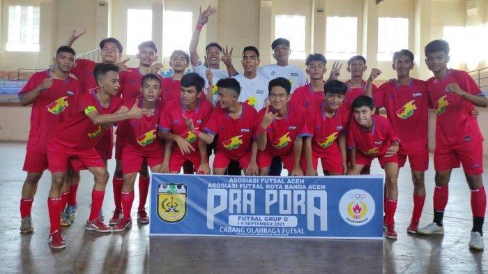 Dimulai, Pra PORA Futsal Grup D, Banda Aceh Bungkam Aceh Selatan 6-4