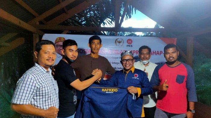 Pengprov Hapkido Aceh Silaturrahmi dengan Anggota DPR RI Rafli Kande