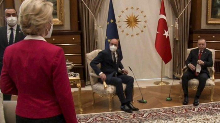 Presiden Komisi Uni Eropa Merasa Terluka, Sendirian Saat Bertemu Erdogan, Karena Dirinya Wanita