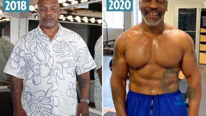 Perubahan tubuh Mike Tyson setelah kembali berlatih tinju