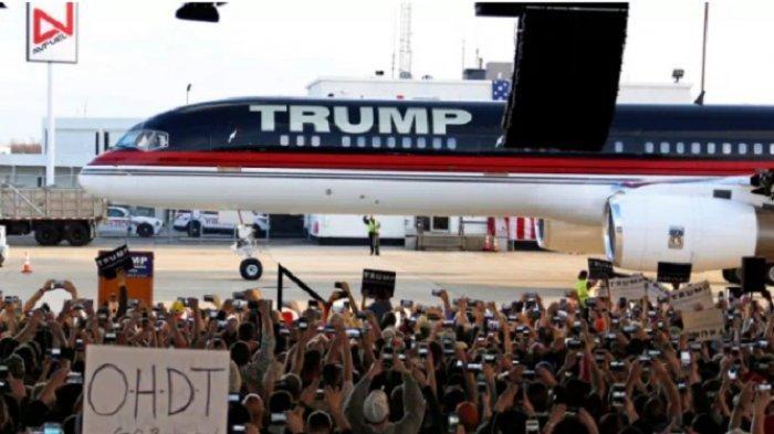 Pesawat Boeing 757 Berlapis Emas Miik Donald Trump Teronggok di Bandara New York