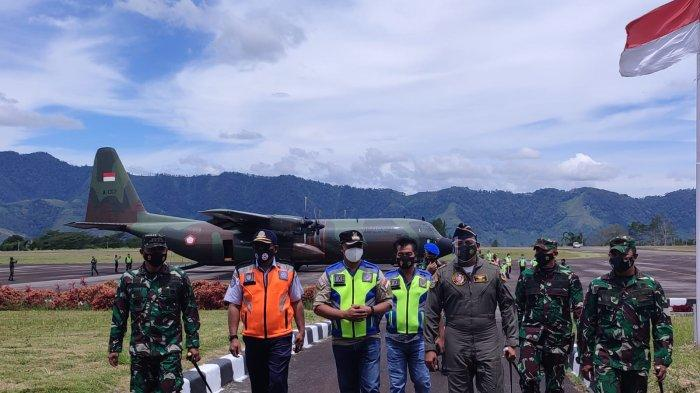 Dipiloti Putra Aceh, Pesawat Hercules TNI AU Mendarat Sempurna di Bandara Rembele