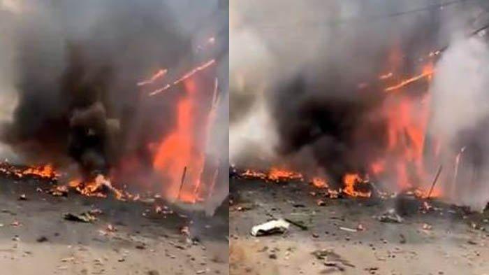 Rekaman Pesawat Jet Pribadi Jatuh sampai Hangus Terbakar, Empat Orang Tewas