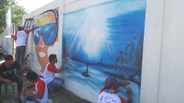Puluhan Pelukis Meriahkan Kompetisi Mural di Sabang
