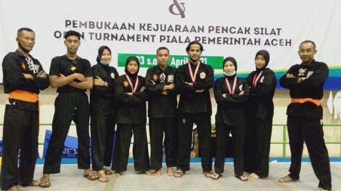 Pesilat Binaan Kodim Nagan Raya Sabet Medali Kejuaraan Piala Gubernur di Banda Aceh
