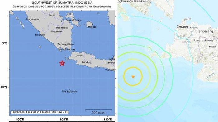 Gempa Banten Berpotensi Tsunami Guncangan Kuat Sampai Jakarta Ini 5 Daerah Yang Harus Siaga Serambi Indonesia