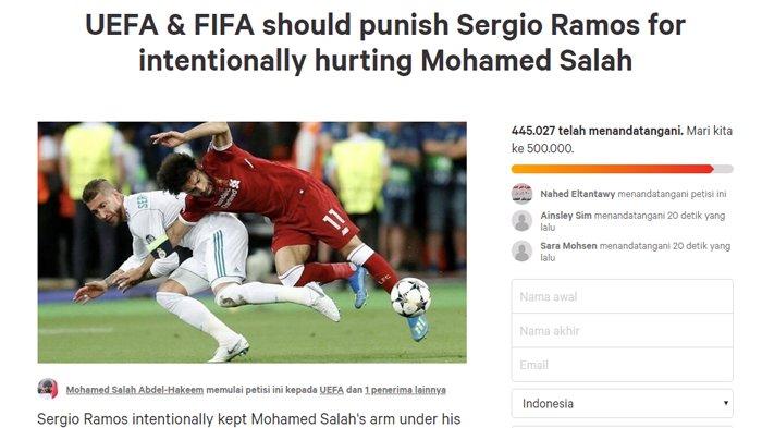 Ratusan Ribu Orang Tandatangani Petisi, Minta UEFA dan FIFA Hukum Sergio Ramos