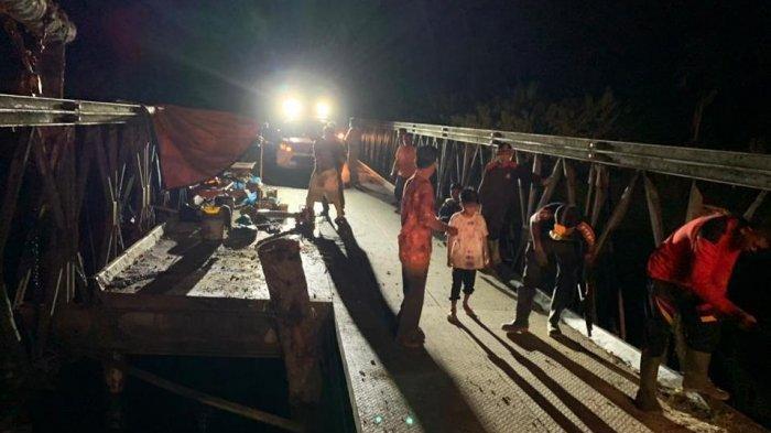 Sudah Bisa Dilalui Kendaraan, Jembatan Makhao Karya Bakti di Jalan Lingkar Simeulue Siap Diperbaiki