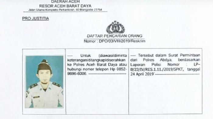 Seorang Petugas Lapas Blangpidie DPO, Begini Kronologisnya