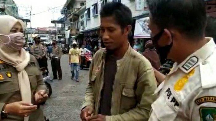 Terjaring Razia Tak Pakai Masker, Pria Ini Dihukum Tapi Tak Hafal Pancasila, Pilih Baca Al-Fatihah