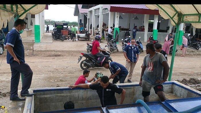 Suplai Kebutuhan Pedagang, PDAM Tirta Daroy Bangun Reservoir di Pasar Almahirah