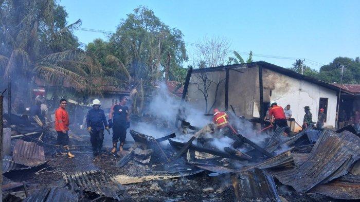 Empat Rumah Warga Lamgapang Aceh Besar Terbakar, 13 Jiwa Kehilangan Tempat Tinggal