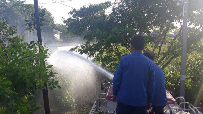 Ilalang Kembali Terbakar di Gampong Ateuk Jawo, Lagi-lagi Membakar Sampah Jadi Pemicunya