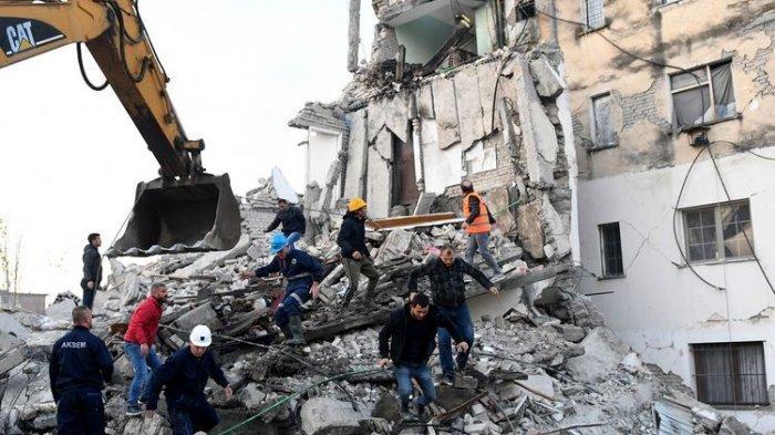 Gempa Berkekuatan 6,4 Guncang Albania, Eenam Orang Meninggal Dunia dan 150 Terluka
