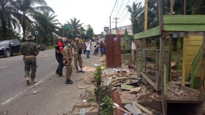 Peringatan tak Diindahkan Pemilik, Penertiban Bangunan Liar di Aceh Tamiang Dilanjutkan Hari Ini