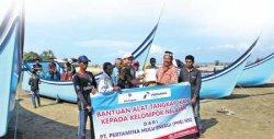 PHE NSO Bantu Boat dan Alat Tangkap Ikan kepada Nelayan Aceh Timur