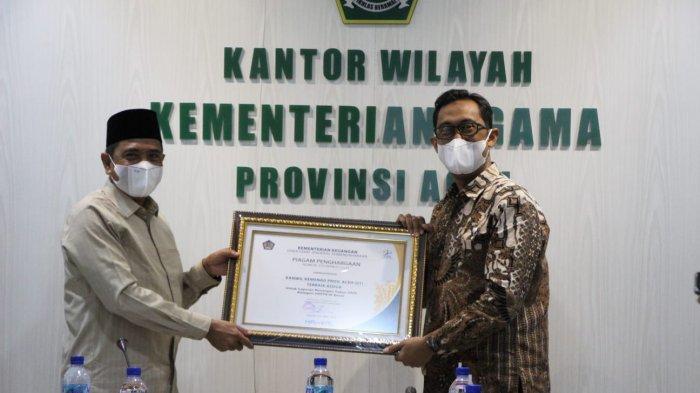 Kemenag Aceh Terima Penghargaan Laporan Keuangan Terbaik Dua Anggaran Wilayah Besar