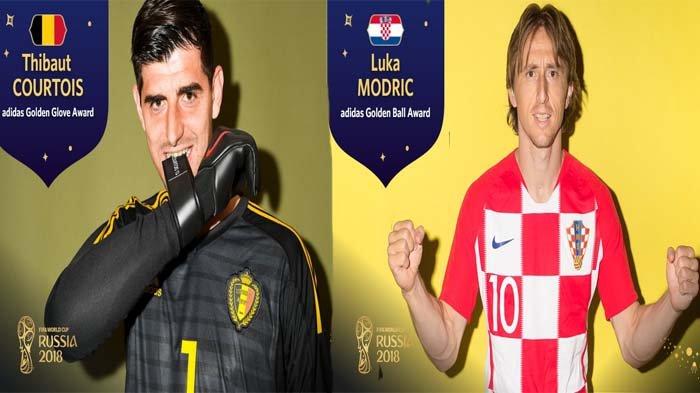 Piala Dunia 2018 - Luka Modric Dapat Bola Emas, Thibaut Courtois Jadi Kiper Terbaik