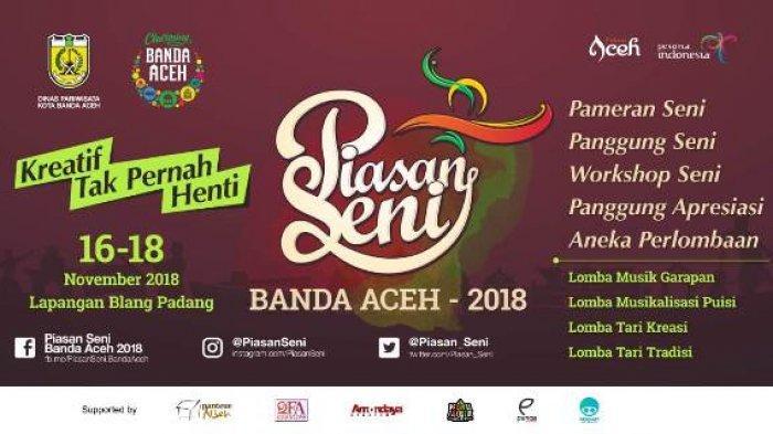 Malam Ini Piasan Seni Banda Aceh Dibuka, Tampilkan Beragam Atraksi