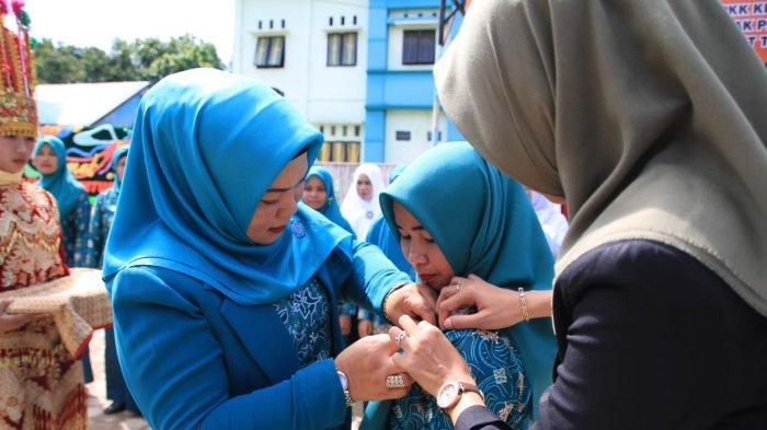 Lantik Pengurus TP PKK Kecamatan Sultan Daulat, Ny Hj Mariani Tekankan Gizi dan Pencegahan Stunting